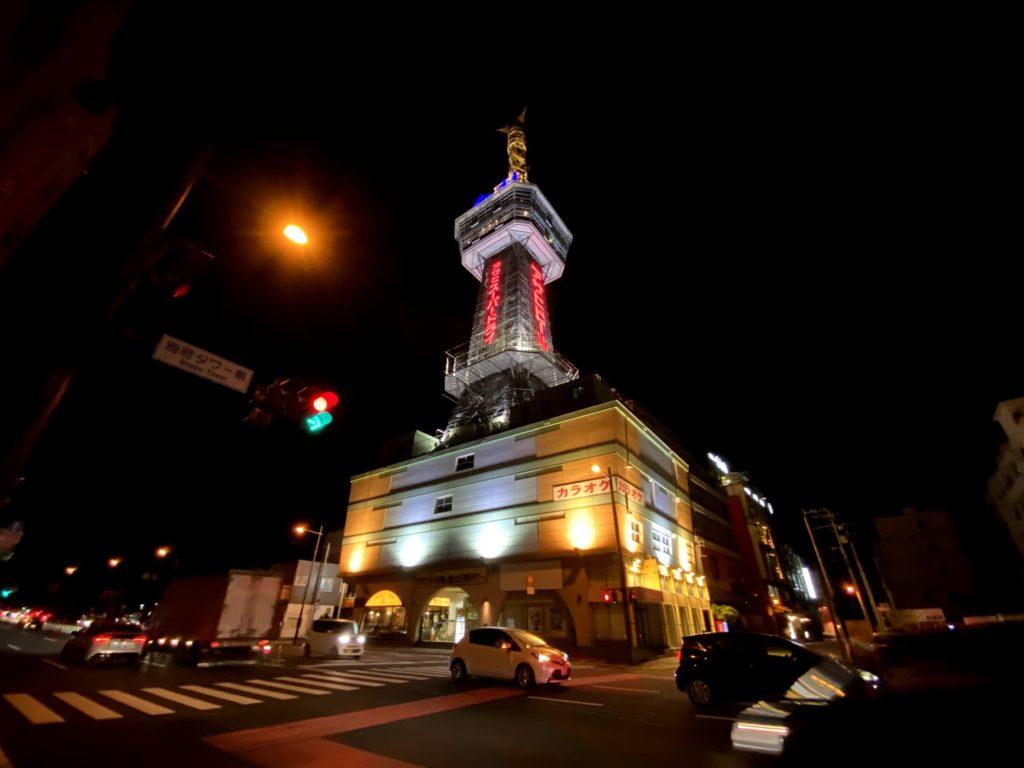 別府市にある昭和を感じる別府タワーを撮影した写真